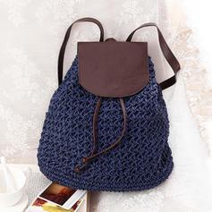 Braided Paper Rope Backpacks/Beach Bags/Bucket Bags