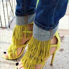 Kvinder PU Stiletto Hæl sandaler Pumps med Tassel sko