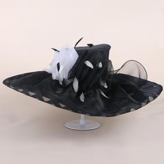 Organza avec Feather Disquettes Chapeau/Kentucky Derby Des Chapeaux
