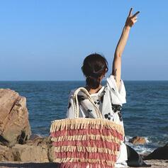 Elegant/Classical/Stripe/Bohemian Style/Braided/Super Convenient Tote Bags/Beach Bags
