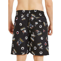 Heren Print Sneldrogend Board Shorts
