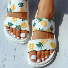 Kvinnor Duk Flat Heel Sandaler Tofflor med Andra skor