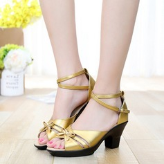 Latin Heels Sandals Real Leather With Ankle Strap Latin