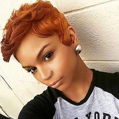 4A Non remy Wavy Human Hair Capless Wigs
