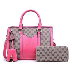 Vintga PU Satchel/Boston Bags/Bag Sets/Wallets & Wristlets