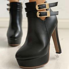 Жіночі ПУ Шпилька Насоси з Пряжка Блискавка взуття