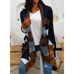 Print Casual Long Cardigan