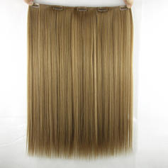 Straight Synthetic Hair Clip in Hair Extensions (Sold in a single piece) 80g
