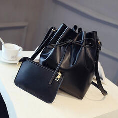 Vintage/Böhmisk stil/Enkel Axelrems väskor/Hinkväskor