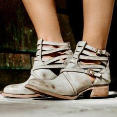 Női PU Alacsony sarok Csizma -Val Csat cipő