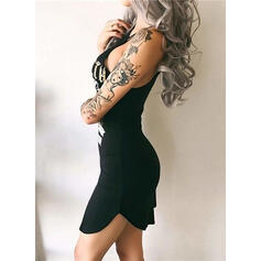 Print Sleeveless Bodycon Above Knee Sexy/Casual Dresses