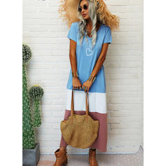 Nadrukowana/Wyszczuplająca/Serce Krótkie rękawy Koktajlowa T-shirt Casual Maxi Sukienki