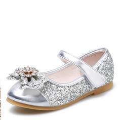 8476d0677c934 Fille de Glitter mousseux talon plat bout rond Bout fermé Chaussures plates  Chaussures de fille de