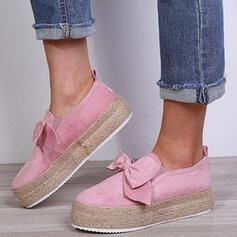Bayanlar Süet Düz topuk Flats Ile İlmek ayakkabı