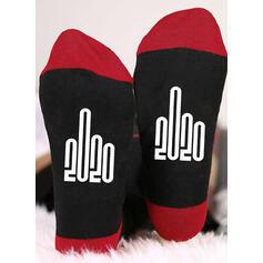 Wytłaczany/Nadruk Oddychająca/Wygodny/Boże Narodzenie/Crew Socks/Dla obu płci Skarpety
