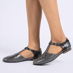 Women's PU Flat Heel Flats With Buckle shoes