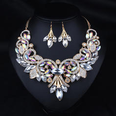 Beautiful Alloy Rhinestones Resin With Rhinestone Ladies' Jewelry Sets