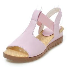De mujer Cuero Tipo de tacón Sandalias Cuñas Encaje Solo correa con Otros zapatos