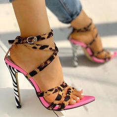 Women's Suede Stiletto Heel Sandals Peep Toe shoes