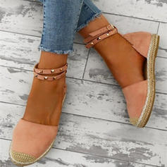 Women's Suede Low Heel Sandals With Rivet shoes