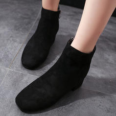 Women's PU Chunky Heel Boots With Zipper shoes