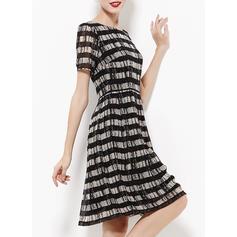 e8ab25ecfc05 ... Κοντά μανίκια Φαρδύ κάτω Μήκος γόνατος Κρασί Απλό Κομψό φορέματα ...