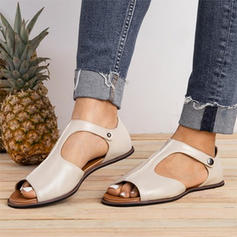 Women's Leatherette Flat Heel Sandals With Others shoes