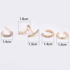 Os en forme Poisson Alliage Boucles d'oreilles 5 PCS