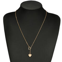 Simple Alloy With Heart Necklaces