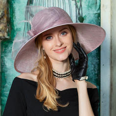 Ladies' Classic Cambric With Feather Floppy Hat