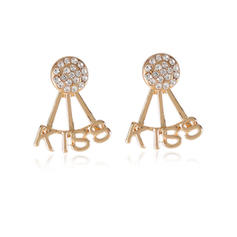 Exquisite Alloy With Rhinestone Earrings