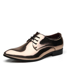Lace-up Derbies Ruha cipő Lakkbőr Férfi Férfi Oxfords