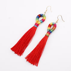 Exotic Alloy Braided Rope Women's Earrings
