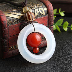 Unique Beautiful Fashionable Lovely Agate With Resin Necklaces