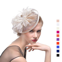 Dames Mooi Batist met Feather Fascinators/Theepartij hoeden