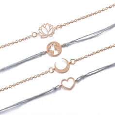 Fashionable Cool Alloy With Imitation Pearl Bracelets (Set of 5 pairs)