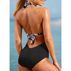 Floral Halter Sexy One-piece Swimsuits