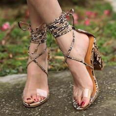 Kvinder PU Stiletto Hæl sandaler Pumps med Blondér sko