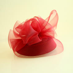 Dames Beau Fil net/Velours Chapeaux de type fascinator