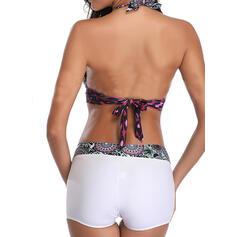 High Waist Print Halter Vintage Plus Size Bikinis Swimsuits