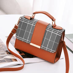 Elegante/Splice Color Bolsas Crossbody