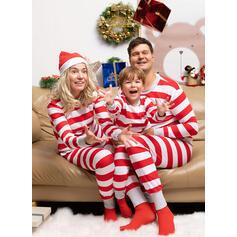 Stripe Familie matchende Jule Pyjamas