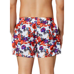 Men's Floral Swim Trunks