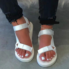 Women's Fabric Flat Heel Sandals With Velcro shoes