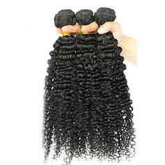 Kinky Curly Human Hair Human Hair Weave (Sold in a single piece)