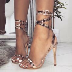 Femmes PU Talon stiletto Sandales Escarpins chaussures