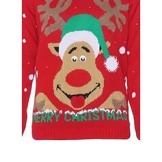 Унісекс Поліестер Північний олень Смішні светри для різдва