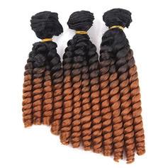 Lösa syntetiska hår Våg av människohår (Uppsättning av 3)