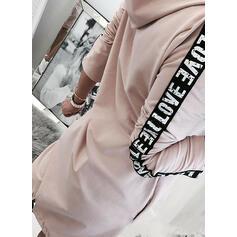 Print Long Sleeves Sheath Above Knee Casual Sweatshirt Dresses