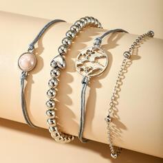 Fashionable Cool Alloy Bracelets (Set of 4 pieces)
